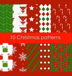 ten christmas different vector image vector image