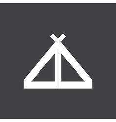 Tent Icon On Dark vector image
