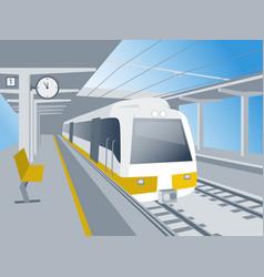 Train at station vector