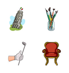 Travel sports and other web icon in cartoon style vector