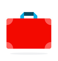travelers first aid kit flat isolated vector image