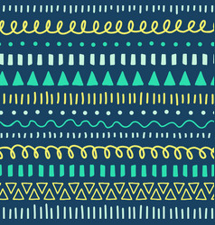 tribal doodles seamless pattern ethnic vector image