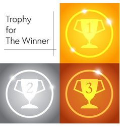 trophy for the winner vector image