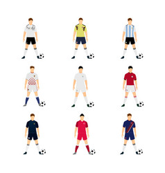 various football jersey national team group world vector image