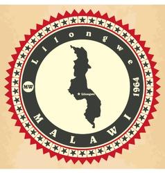 Vintage label-sticker cards of Malawi vector