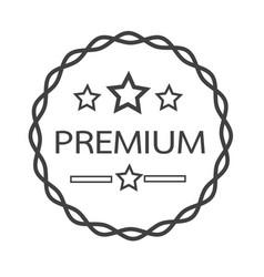 vintage premium label icon vector image
