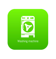 Washer icon green vector