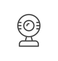 webcam line icon vector image