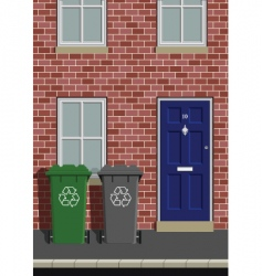wheelie bins vector image