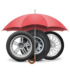 Wheels under Umbrella vector