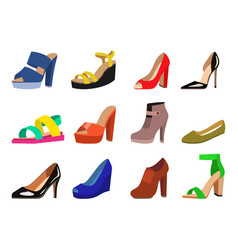 womens shoes flat fashion design collection vector image