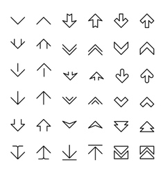 Arrow up and down scrolling buttons vector image vector image