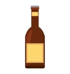 beer bottle drink pour vector image