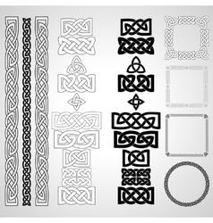 Celtic knots patterns frameworks vector