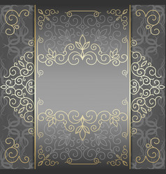 Luxury card with golden patterns vector
