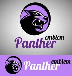panther emblem vector image vector image