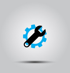 service icon gear and wrench vector image