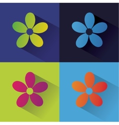 Abstract nature set isolated on colored background vector image