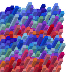 cubical colorful abstract background vector image