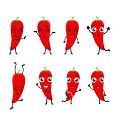 happy chili cartoon character vector image vector image
