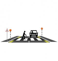 zebra crossing oap vector image vector image