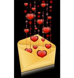 beautiful bright heart vector image vector image