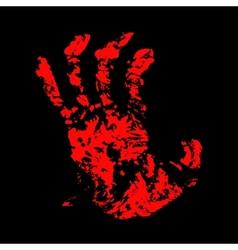 Hand bloody vector