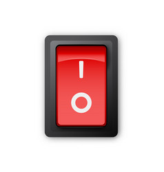 red pc electric switch off position vector image vector image