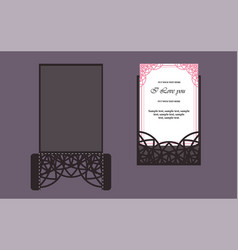 wedding invitation or greeting card with gold vector image