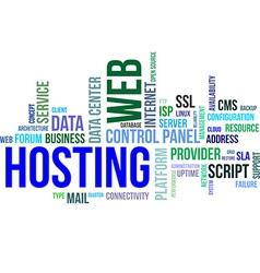 word cloud web hosting vector image