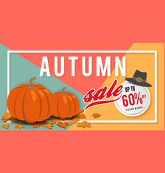 autumn sale banner background template design vector image vector image