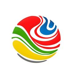 Abstract colorful globe logo vector