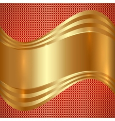 Abstract Gold Background With Curves vector