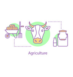 agriculture concept icon vector image