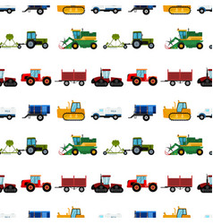 agriculture industrial farm equipment seamless vector image