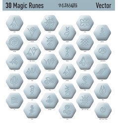 Antique magic runes vector