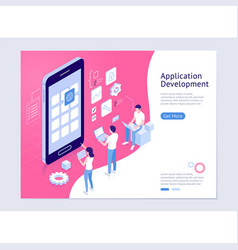 Application development isometric vector