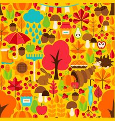 autumn season seamless pattern vector image