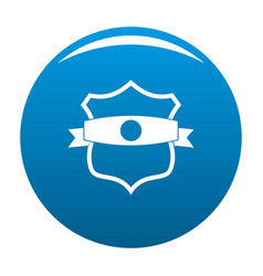 badge classic icon blue vector image