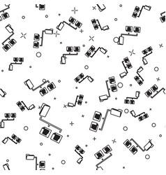 Black folder tree icon isolated seamless pattern vector