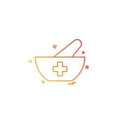bowl food soup icon desige vector image