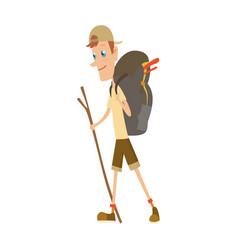 boy scout camping outfit summer camp activities vector image