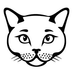 cat head cut vector image