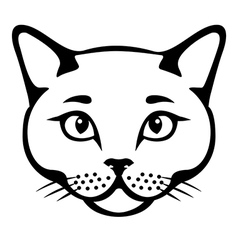 cat head cut vector image vector image