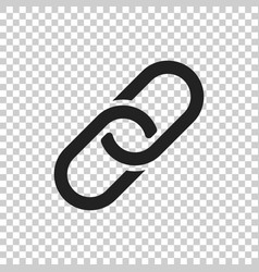 chain icon in flat style on isolated background vector image
