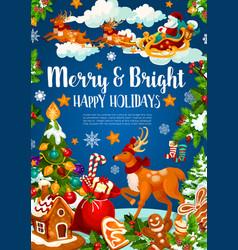 Christmas banner of xmas and new year holiday vector