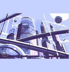 city metropolis of future vector image