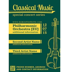 classical music concert violin vertical music vector image