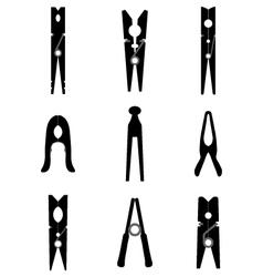 clothespins vector image