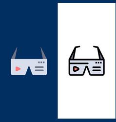 Computer computing digital glasses google icons vector